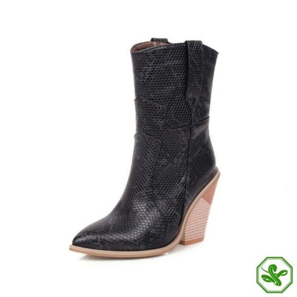 Women's Snakeskin Cowboy Boots 9