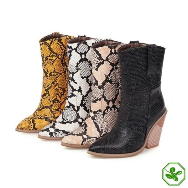 Women's Snakeskin Cowboy Boots 21