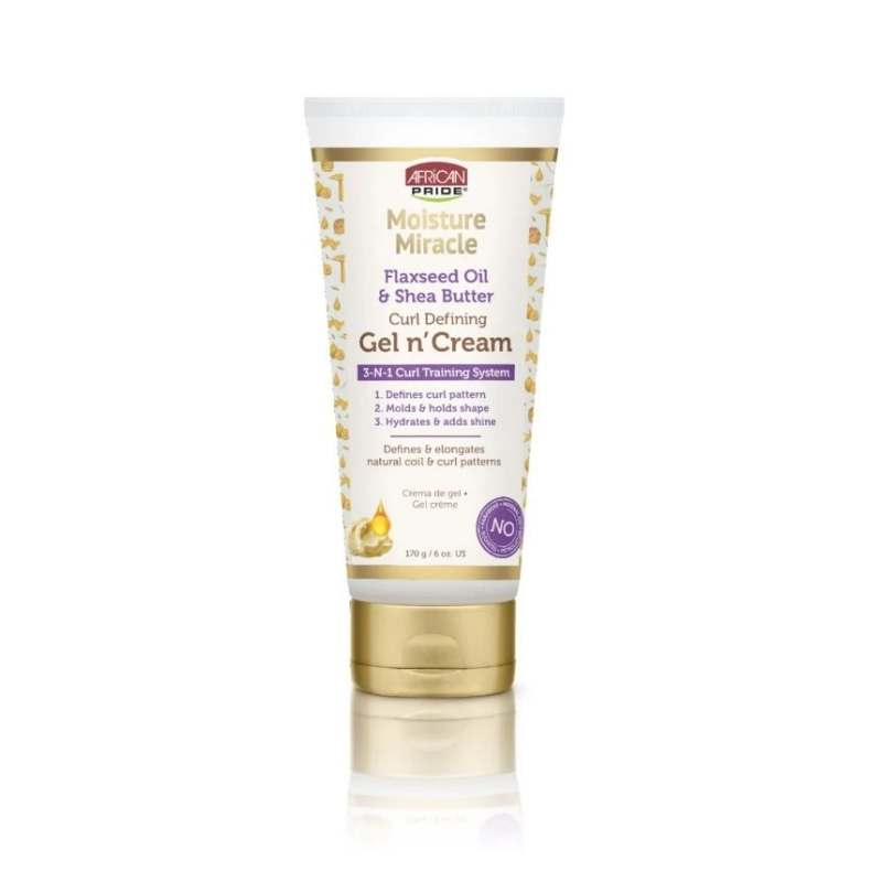 African Pride Moisture Miracle Flaxseed Oil & Shea Butter Gel N' Cream