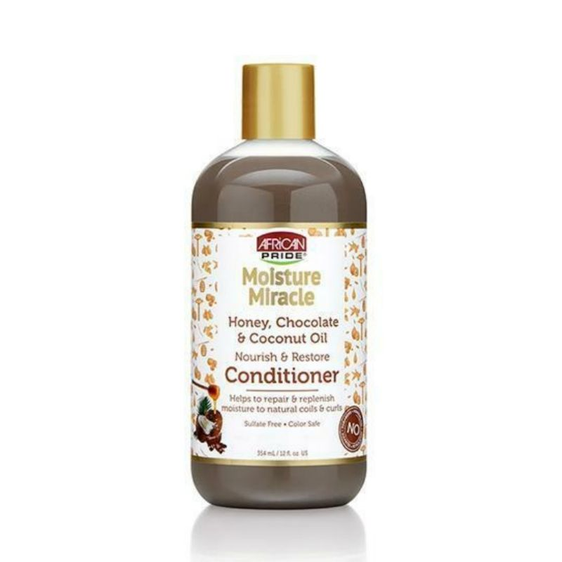 African Pride Moisture Miracle Honey, Chocolate & Coconut Oil Conditioner - cheveuxcrepus.fr