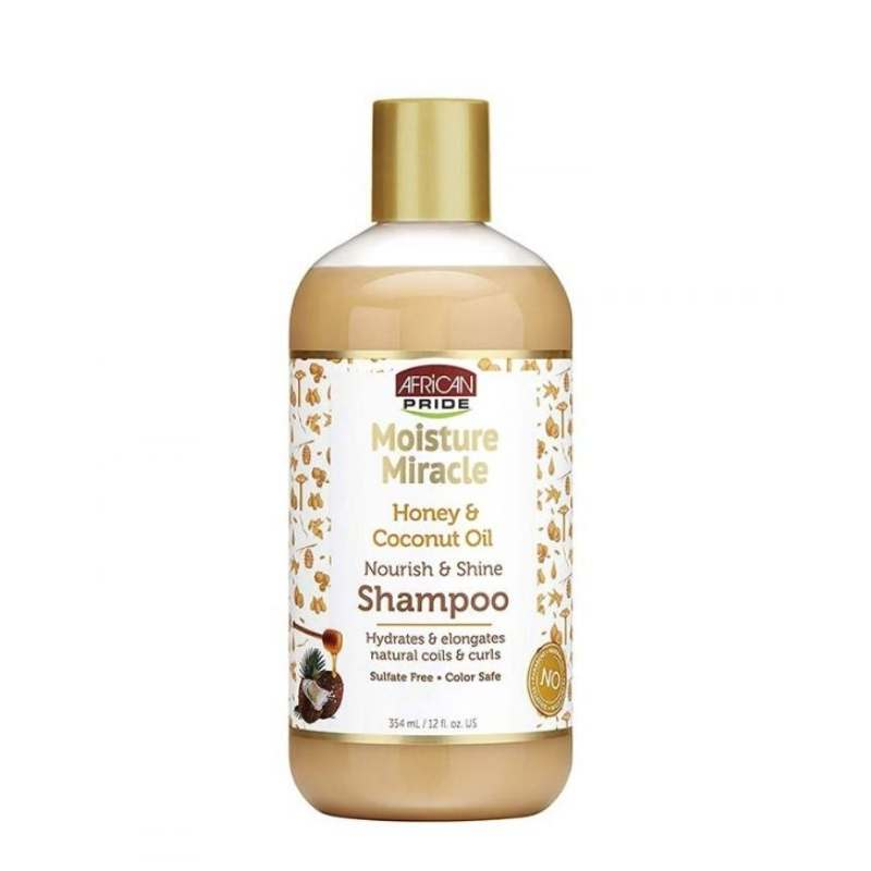African Pride Moisture Miracle Honey & Coconut Oil Shampoo - cheveuxcrepus.fr