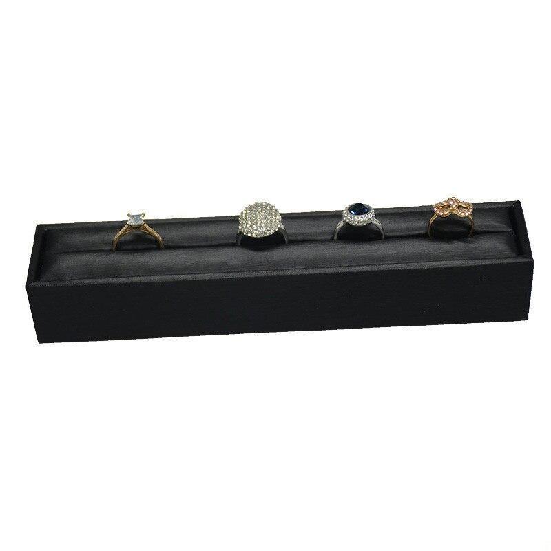 Porte bijoux bague cuir noir
