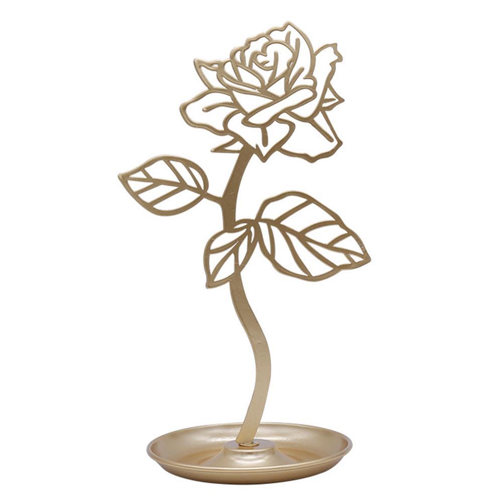 Arbre à bijoux fleur dorée