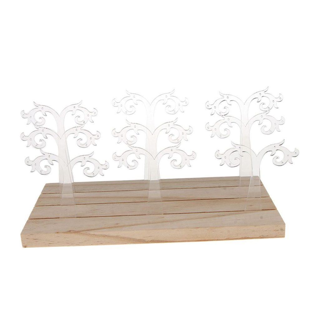 Porte boucle d'oreille bois acrylique
