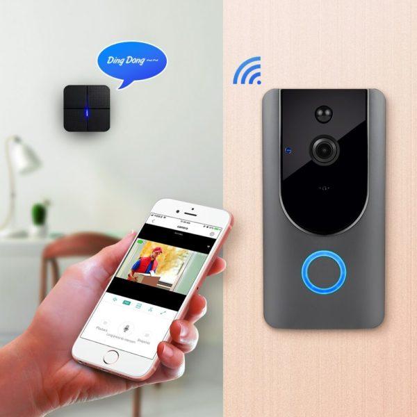 Interphone vidéo sans fil connecté