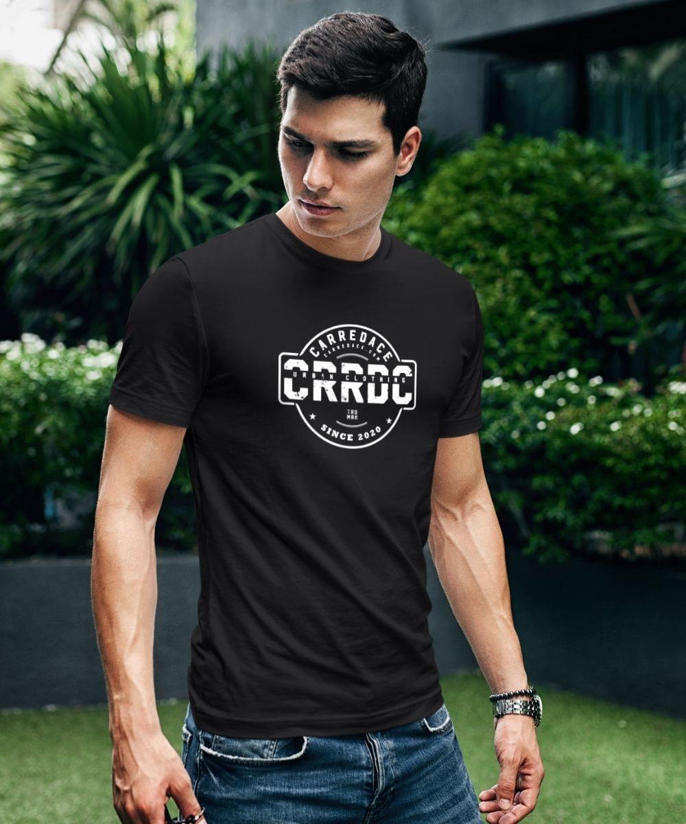 t-shirt éthique noir carredace