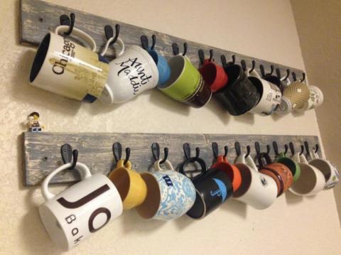crochets murale pour tasse et mug