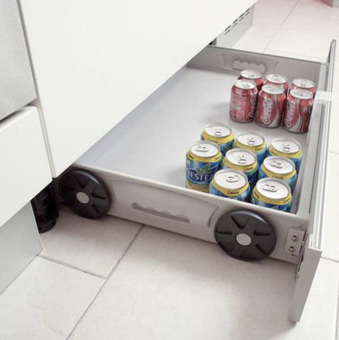 tiroir sous placards cuisine