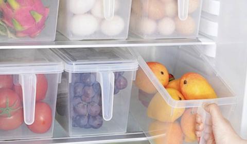 Boîte transparente avec poignée pour frigo
