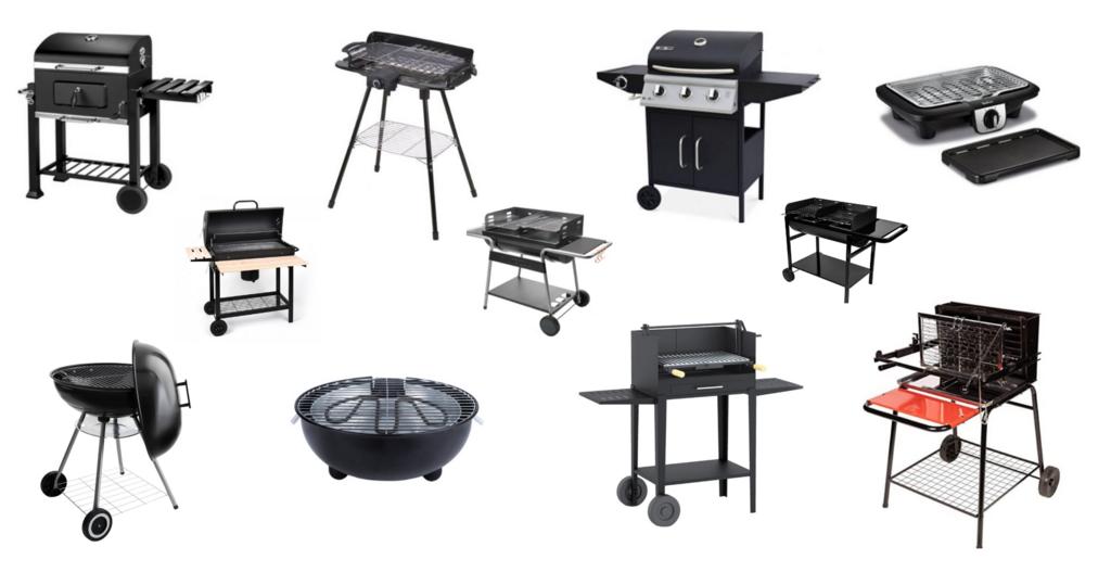 barbecues à charbon, à gaz, électrique