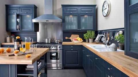 meuble cuisine bois laqués