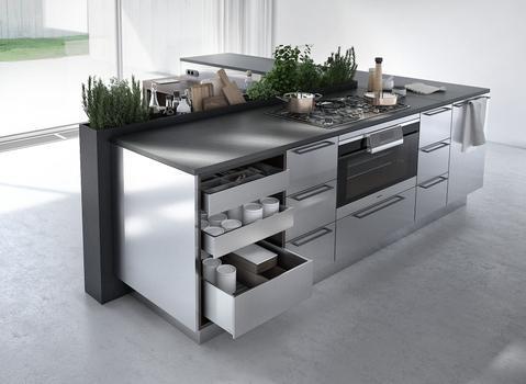 meuble de cuisine en métal