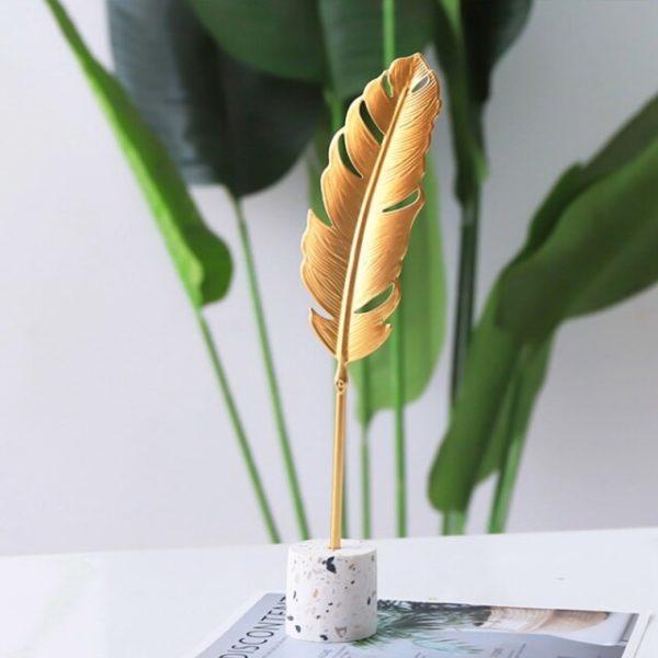 Feuille d or en m tal d coration nordique moderne pour la maison ornements d artisanat.jpg 640x640 1