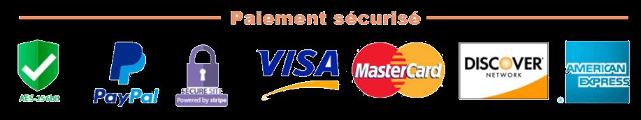 paiement sécurisé par carte bancaire ou Paypal