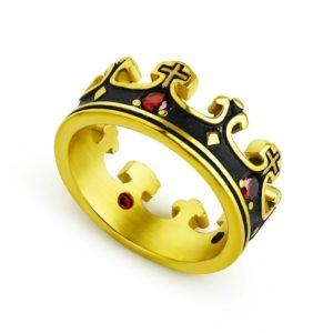 Anneaux bijoux pour homme couronne de templier