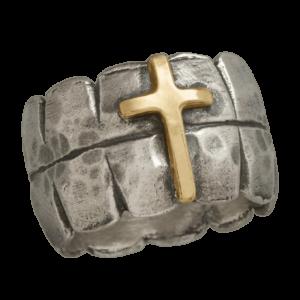 Bague catholique pour homme croix de dieu