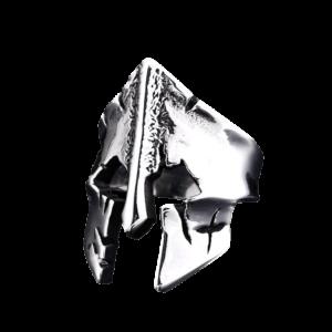 Bague pour homme en argent casque de chevalier