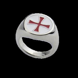 Chevalière croix de templier pour homme et femme