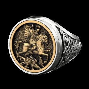 Chevalière en acier pour homme chevalier à cheval