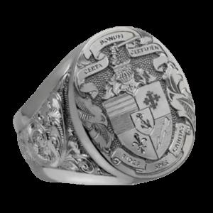 Chevalière en argent pour femme symbole de chevalier