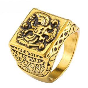 Chevalière en or pour homme du Moyen Âge