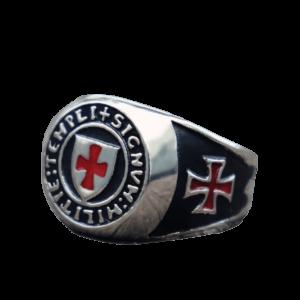 Chevalière héraldique symbole des chevaliers templiers
