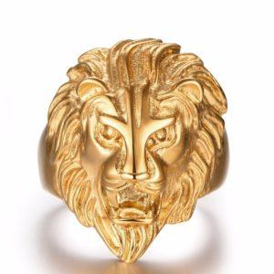 Chevalière lion du trésor des templiers
