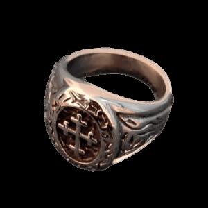 Chevalière ovale de moine chevalier du Moyen Âge