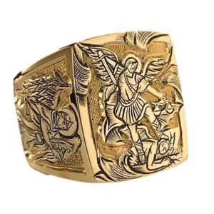 Chevalière pour homme carré Archange en or