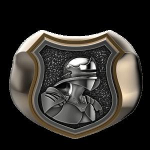 Chevalière pour petit doigt le chevalier en armure