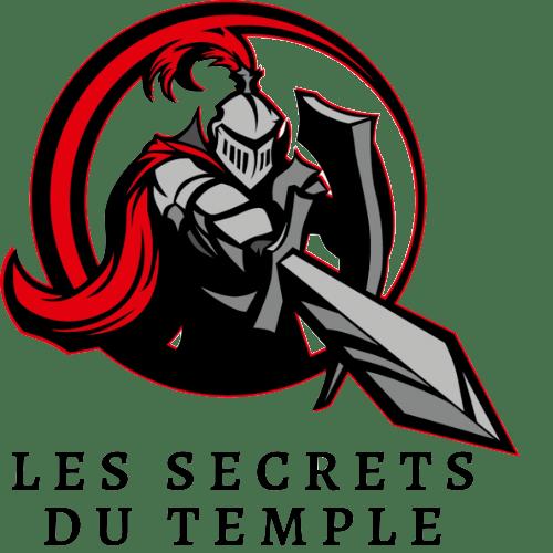 Logo Chevalier templier rouge Les Secretes du temple