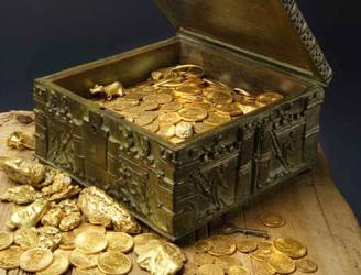 trésors de l'ordre des chevaliers templier pièces d'or et bijoux