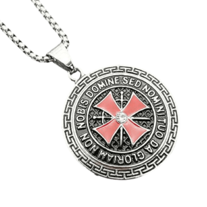 Chaine avec croix rouge des templier médiéval