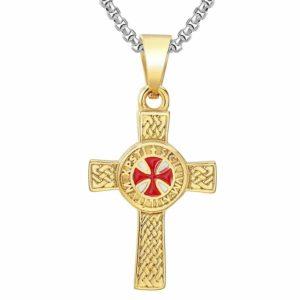Chaine chrétienne avec une croix des templiers