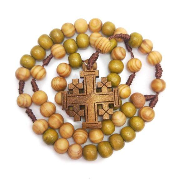 Chapelet pour femme et homme en bois collier catholique
