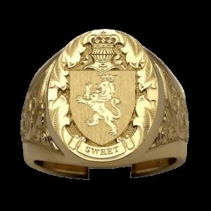 Chevalière lion pour homme symbole des chevaliers