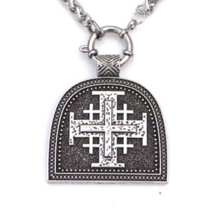 Collier avec petite croix de Malte en pendentif