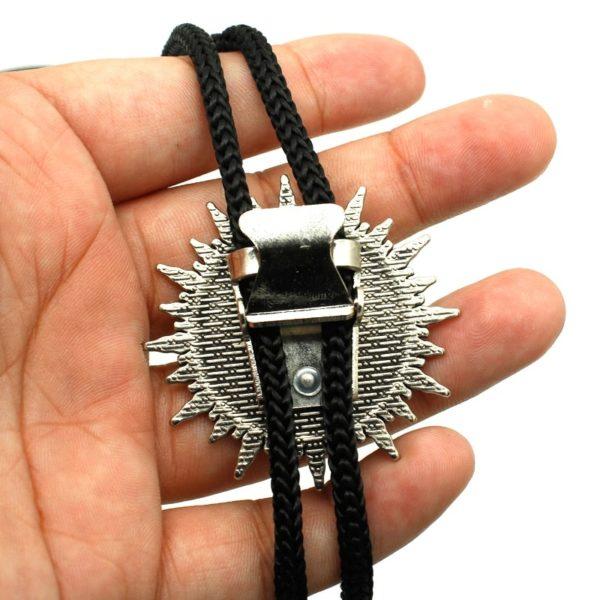 Collier chevalier templier argent acier moyen age corde