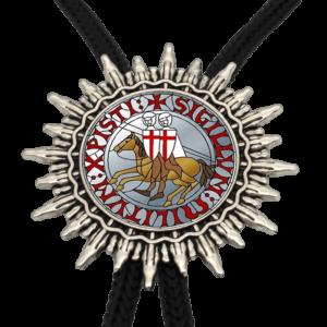 Collier cravate chevalier de croisade à cheval