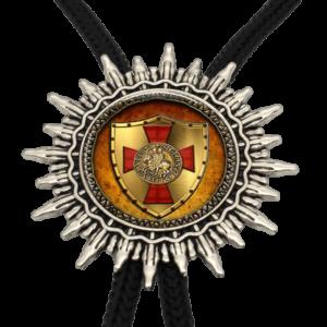 Collier cravate croix des croisades du Moyen Âge