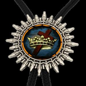Collier croix de Jésus avec une couronne de roi