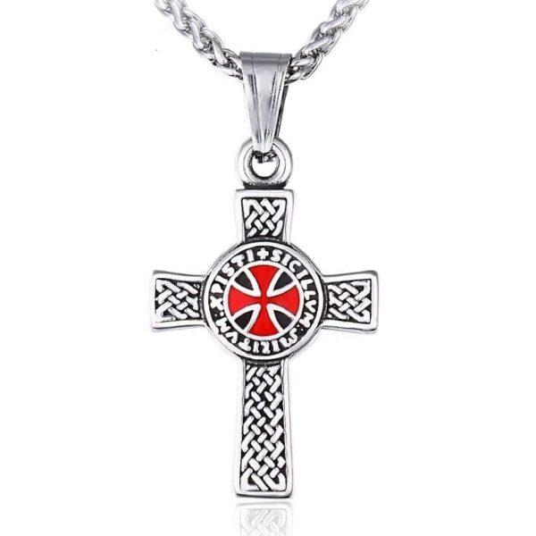 Collier croix en argent des chevaliers du christ