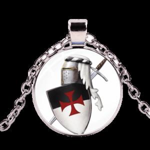 Collier de chevalier en armure de l'ordre du temple