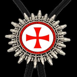Collier pour homme avec croix teutonique rouge