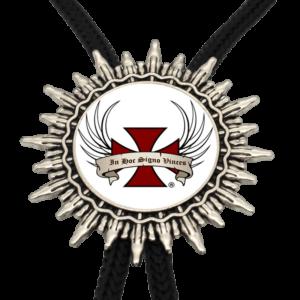 Collier symbolique logo d'une croix rouge sur fond blanc