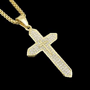 Pendentif croix en diamant pour les catholiques