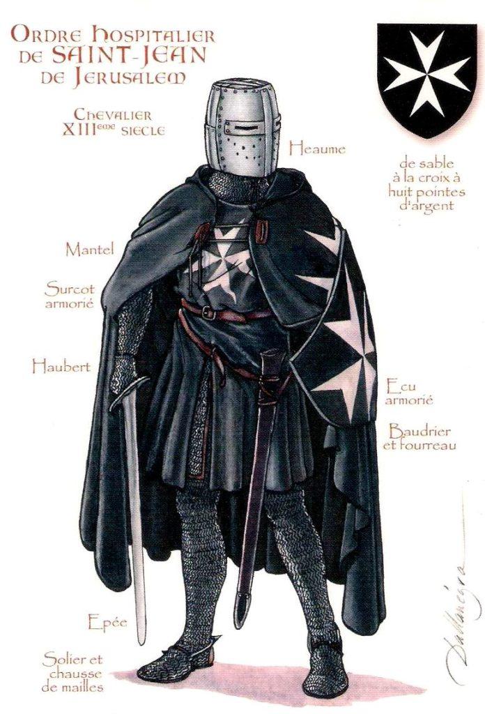 Chevalier de l'ordre hospitalier de saint jean templier noir et  croixblanc
