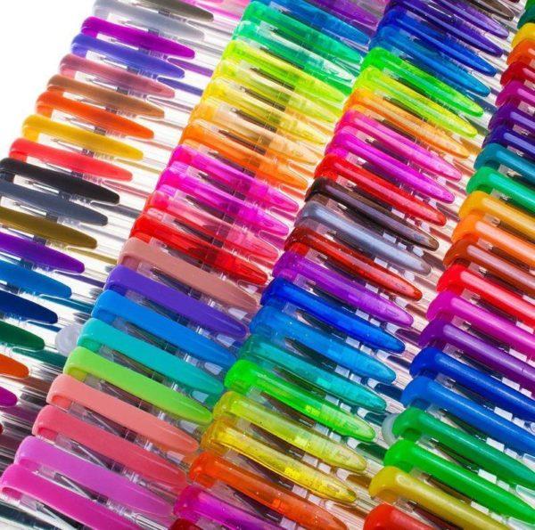 Stylo Gel à Paillettes (lot de 100) Raton Malin 100 couleurs