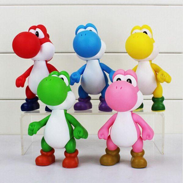 1 pcs 12 cm Super Mario Bros Le Dinosaure Yoshi Action PVC Figure Toy Collection Mod egrave Figurine Yoshi 12 Cm Super Mario Bros. (5 Couleurs) - Livraison Gratuite