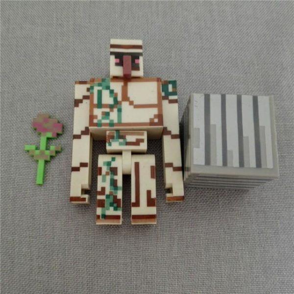 1 set Livraison gratuite Minecraft Villageois Fer Golem Bloc Fleur Pack blocs de construction figurines jouet.jpg 640x640 e61d3314 d348 4a6a a073 daa31c0a924f 1 Lot De 3 Figurines (Iron Golem Bloc Fleur) Minecraft - Livraison Gratuite !